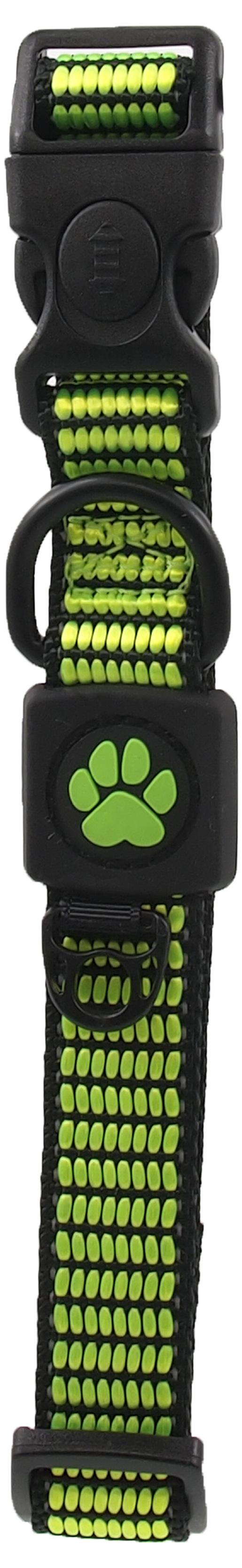 Obojek Active Dog Strong M limetka 2x34-49cm