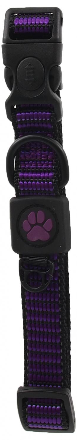Obojek Active Dog Strong M fialový 2x34-49cm