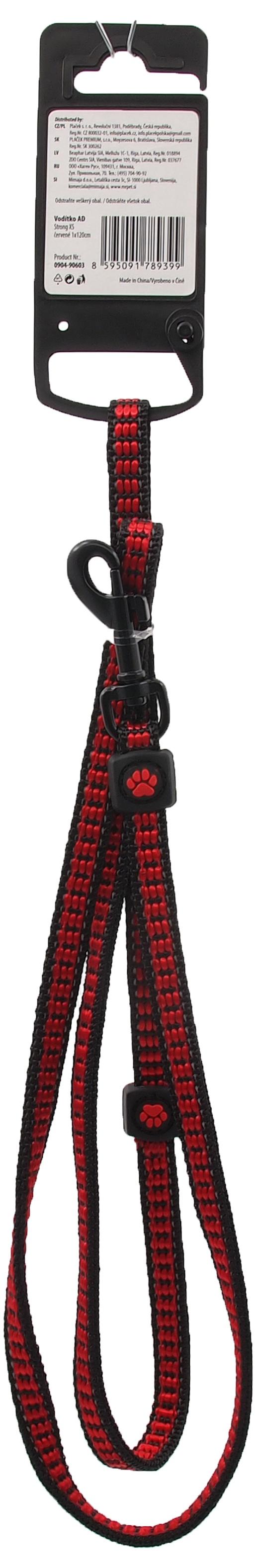 Vodítko Active Dog Strong XS červené 1x120cm