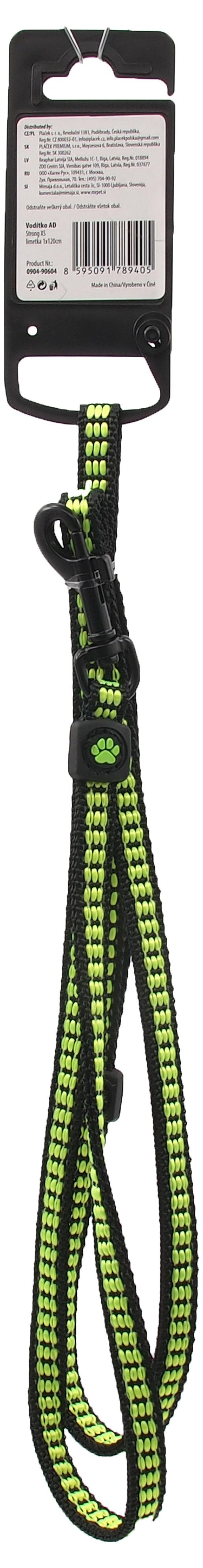 Vodítko Active Dog Strong XS limetka 1x120cm
