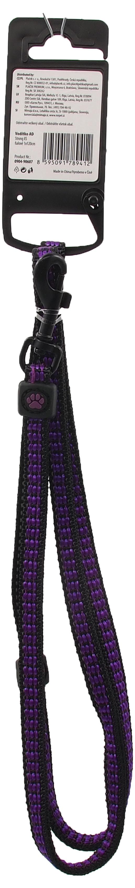 Vodítko Active Dog Strong XS fialové 1x120cm
