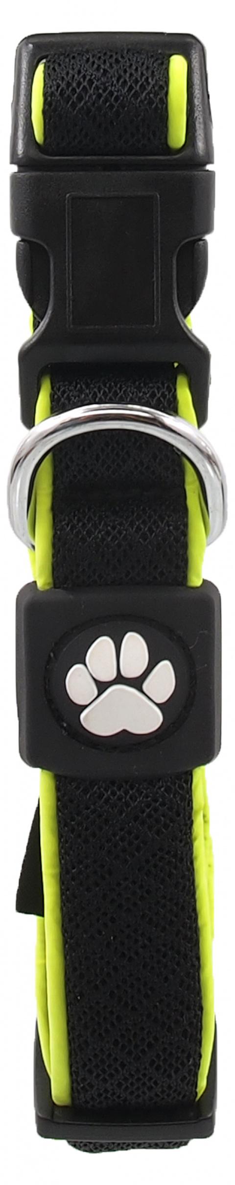 Obojek Active Dog Fluffy Reflective S černý 2x28-40cm title=