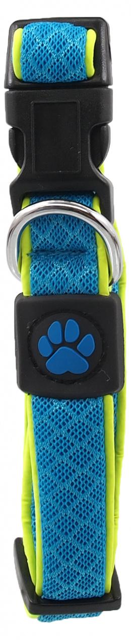 Obojek Active Dog Fluffy Reflective S modrý 2x28-40cm
