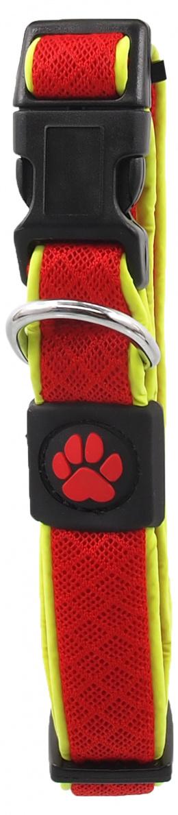 Obojek Active Dog Fluffy Reflective S červený 2x28-40cm