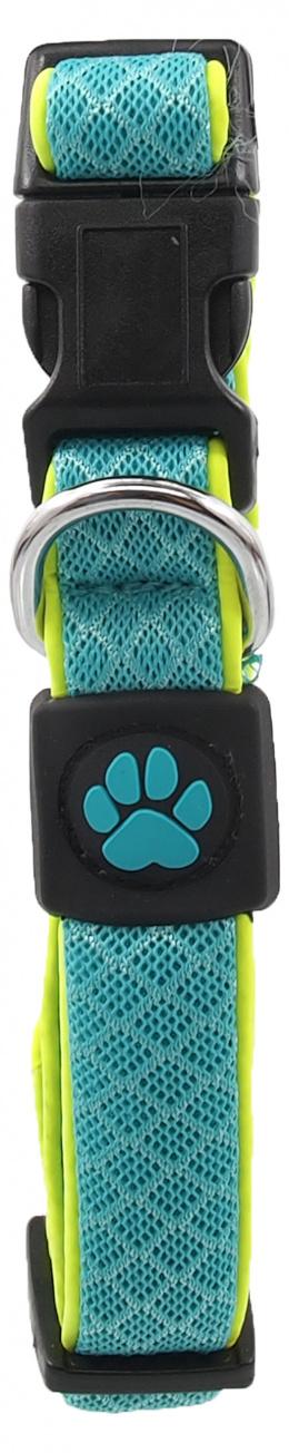 Obojek Active Dog Fluffy Reflective S tyrkys 2x28-40cm