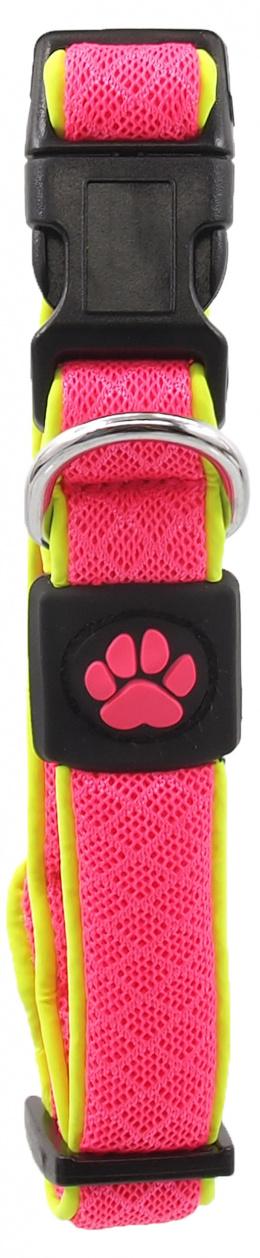 Obojek Active Dog Fluffy Reflective S růžový 2x28-40cm