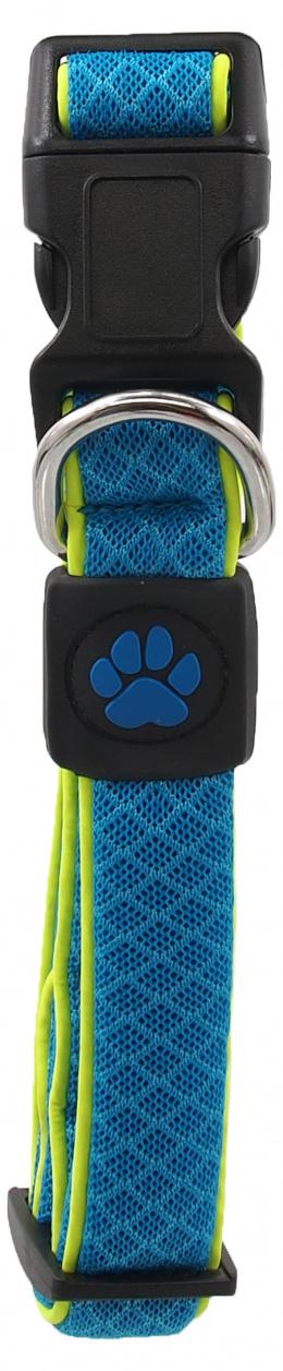 Obojek Active Dog Fluffy Reflective M modrý 2,5x35-51cm