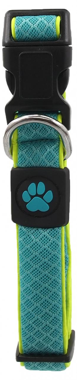Obojek Active Dog Fluffy Reflective M tyrkys 2,5x35-51cm