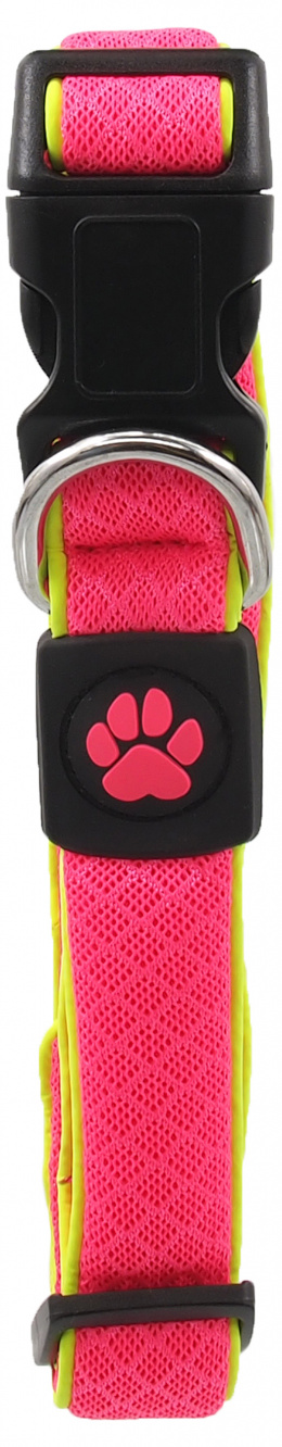 Obojek Active Dog Fluffy Reflective M růžový 2,5x35-51cm
