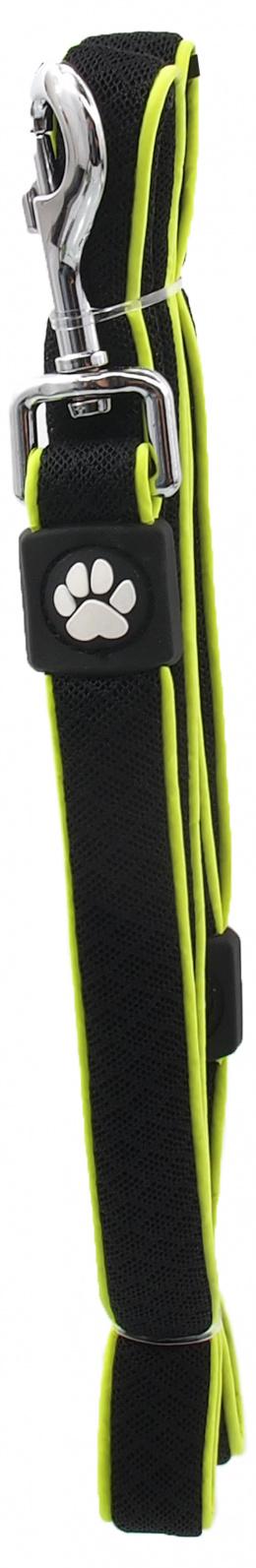 Vodítko Active Dog Fluffy Reflective S černé 2x120cm