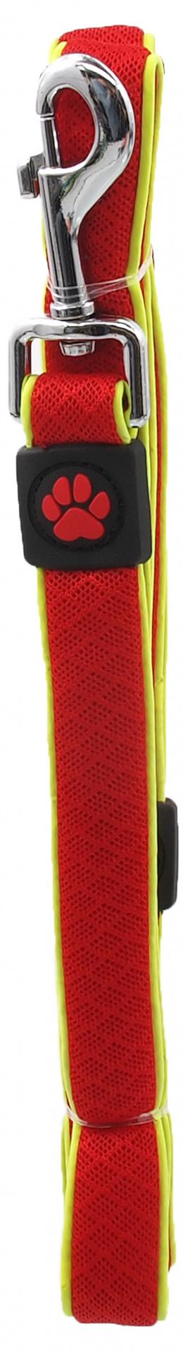 Vodítko Active Dog Fluffy Reflective S červené 2x120cm