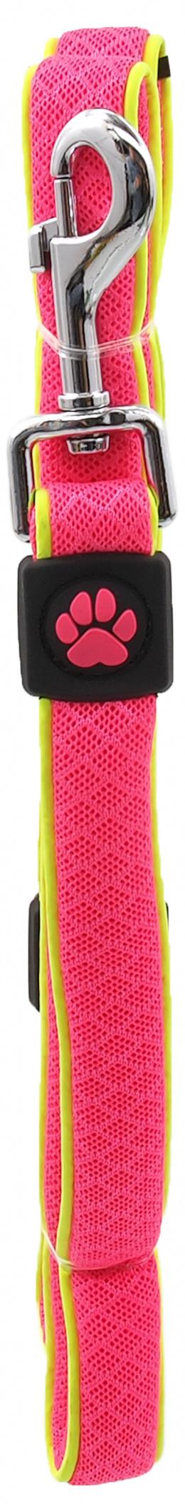 Vodítko Active Dog Fluffy Reflective S růžové 2x120cm