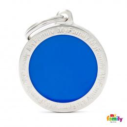 Známka My Family Classic logo kulatá velká modrá