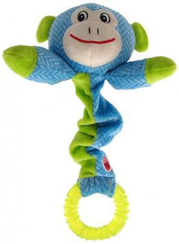 Hračka Let´s Play Junior opice modrá 30cm