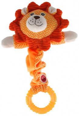 Hračka Let´s Play Junior lev oranžová 30cm