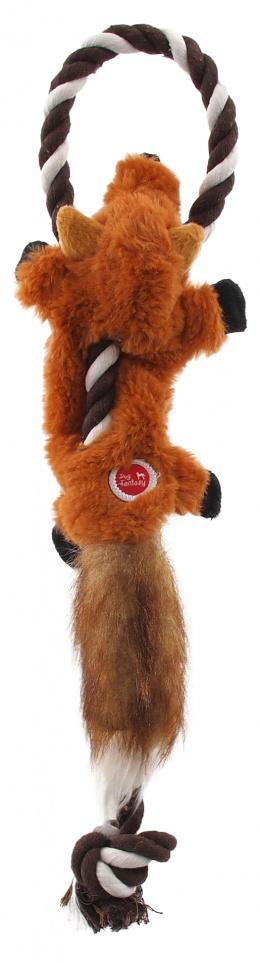 Hračka Dog Fantasy Skinneeez s provazem liška 35cm