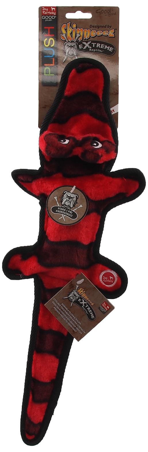 Hračka Dog Fantasy Skinneeez EXTREME krokodýl červený 50cm