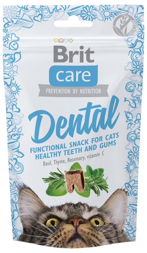 Brit Care Cat Snack Dental 50g title=