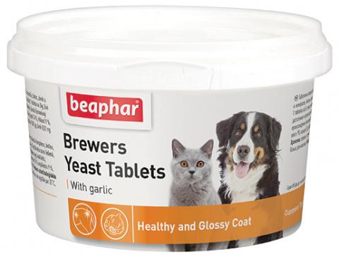 Tablety s pivovarskými kvasnicemi a česnekem Beaphar Brewers Yeasts 250 ks