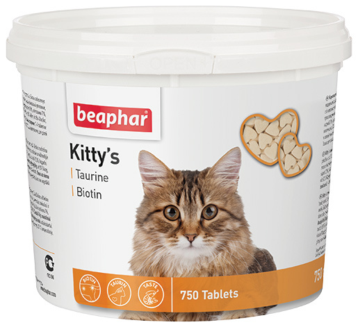 Pochoutka s taurinem a biotinem Beaphar Kitty´s 750 tablet