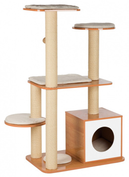 Škrabadlo Trixie Laia wooden 120cm hnědo-bílé