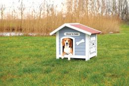 Bouda Trixie DOGS INN světle modrá-bílá 91cm