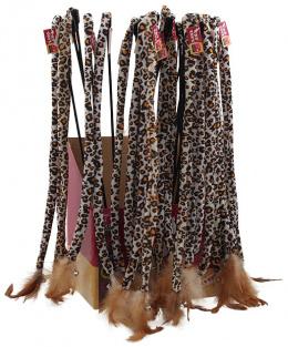 Hračka Magic Cat prut ocásek bavlna s pírky 42cm+42cm
