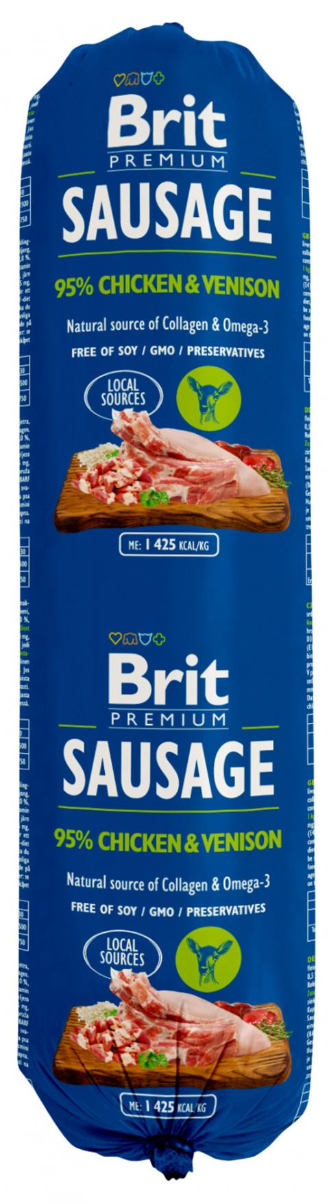Salám Brit Sausage Chicken & Venison 800g title=