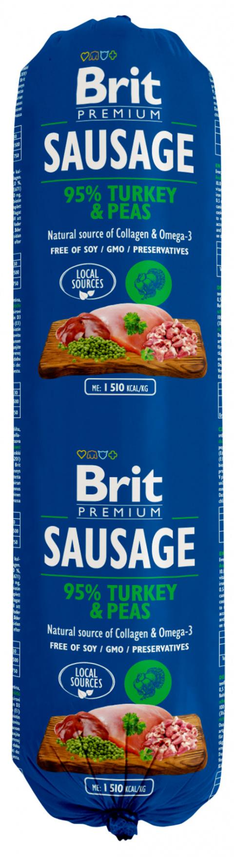 Salám Brit Sausage Turkey & Pea 800g title=