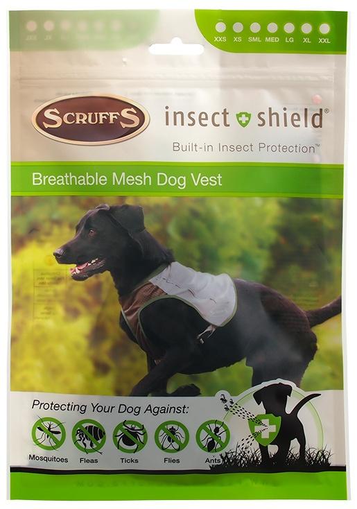Vesta Scruffs Insect Shield Vest S hnědá