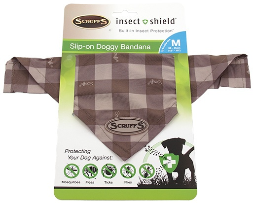 Šátek Scruffs Insect Shield Bandana M hnědý