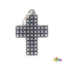 Známka My Family BRONX kříž velký Studs
