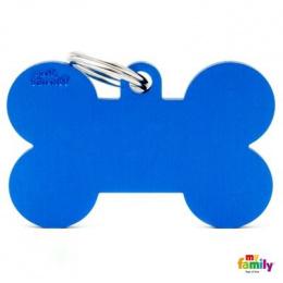 Známka My Family Basic kost extra velká modrá
