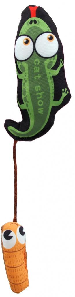 Hračka Let´s Play ještěr s catnip 17cm