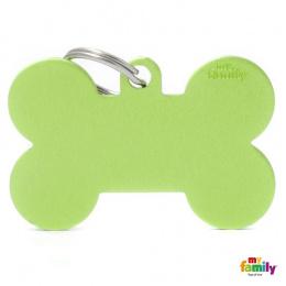 Známka My Family Basic kost extra velká zelená
