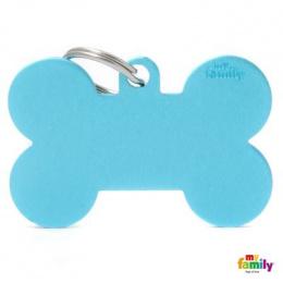 Známka My Family Basic kost extra velká světle modrá