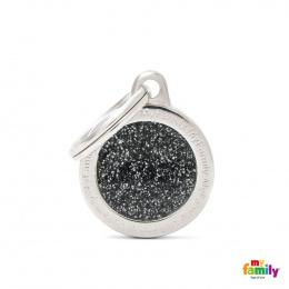 Známka My Family Shine kolečko malé černé