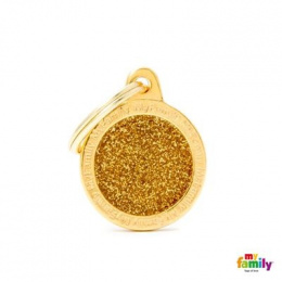 Známka My Family Shine kolečko malé zlaté