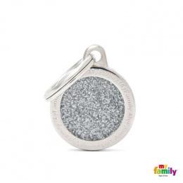 Známka My Family Shine kolečko malé stříbrné