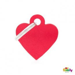 Známka My Family Basic srdce malé červené