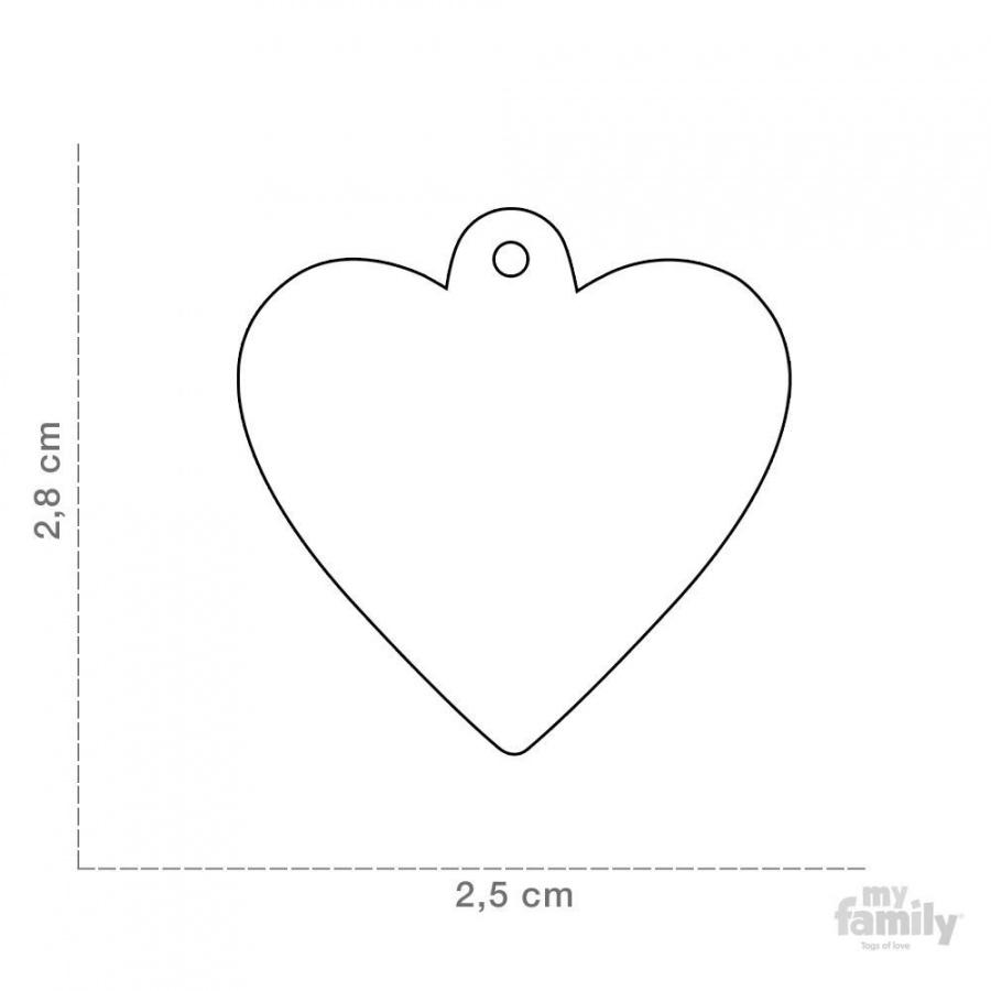 Známka My Family Basic srdce malé šedé