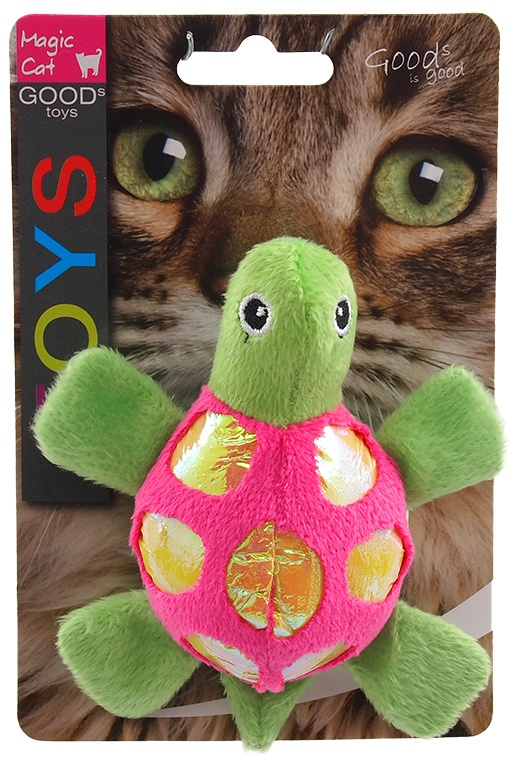 Hračka Magic Cat želva plyš s catnip 11cm