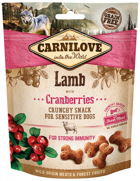Carnilove Dog Crunchy Snack Lamb with Cranberries 200g title=