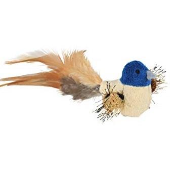 Hračka TRIXIE ptáček s pírky plyšový 8cm