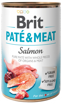 Konzerva Brit Paté & Meat Salmon 400g