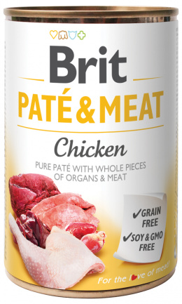 Konzerva Brit Paté & Meat Chicken 400g
