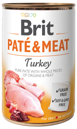 Konzerva Brit Paté & Meat Turkey 400g
