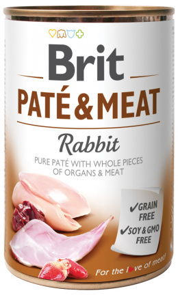 Konzerva Brit Paté & Meat Rabbit 400g