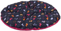 Polštář Dog Fantasy 52x45cm origami černo-růžový