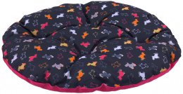 Polštář Dog Fantasy 86x70cm origami černo-růžový
